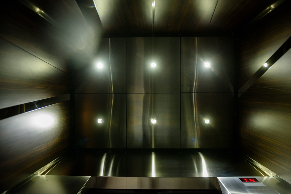Elevator Cab Design with Ceiling Lighting