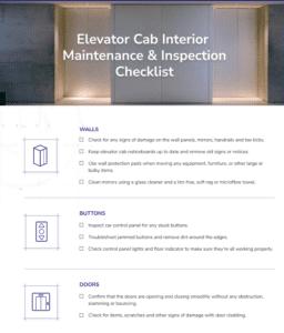 elevator-interior-cab-cleaning-maintenance-checklist