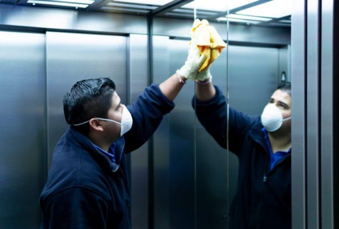 elevator interior cleaning